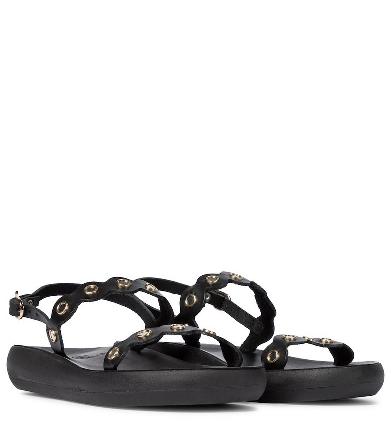 Ancient Greek Sandals Clio Comfort leather sandals in black