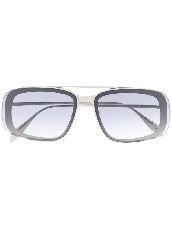 Alexander McQueen Eyewear Metal Frame Square sunglasses in silver