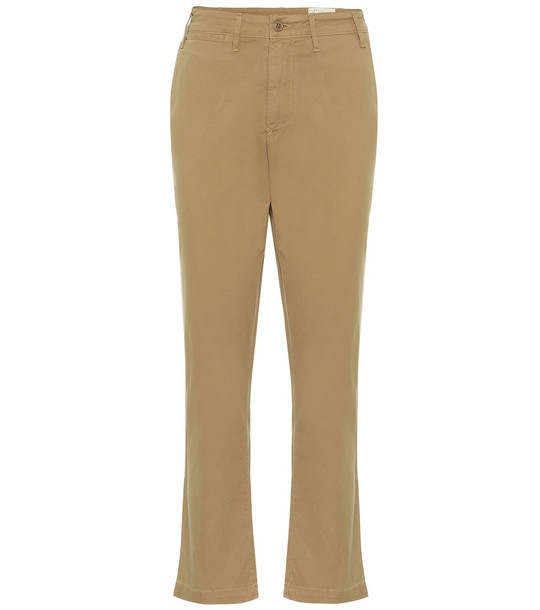 Citizens of Humanity Brooke mid-rise straight stretch-cotton chinos in brown