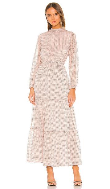 MINKPINK Be Someone Maxi Dress in Blush