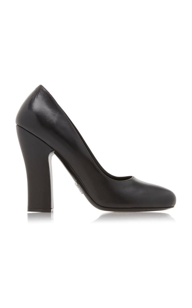 Prada Leather Pumps Size: 37.5 in black
