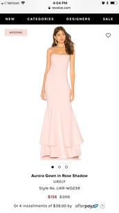 dress,nude gown