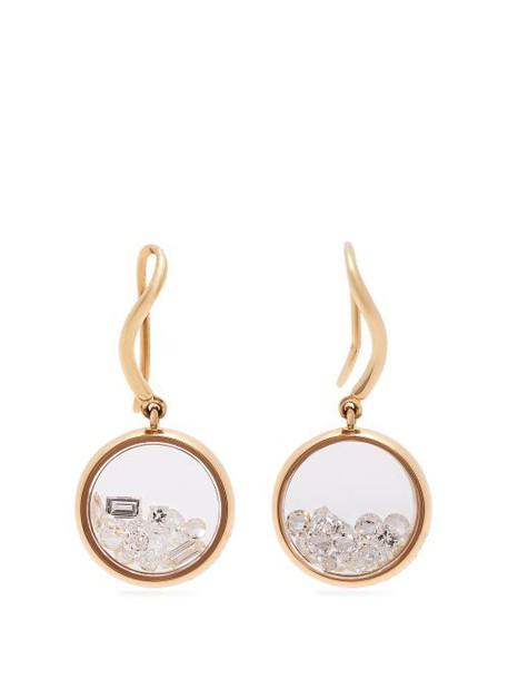 Aurélie Bidermann Fine Jewellery - Chivor 18kt Gold & Diamond Earrings - Womens - Gold