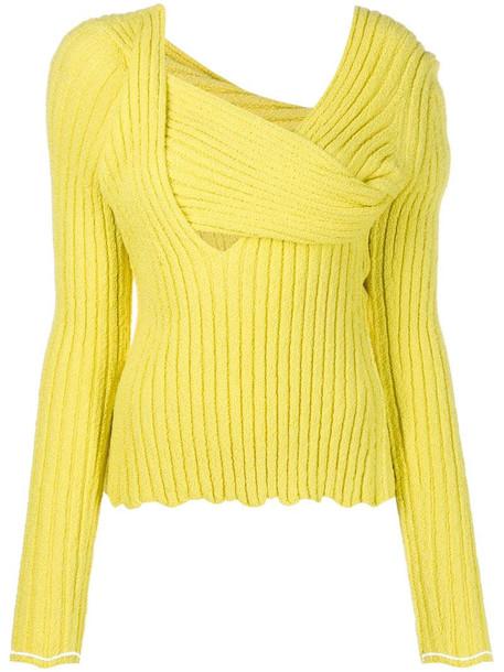 Bottega Veneta bouclé textured jumper in yellow