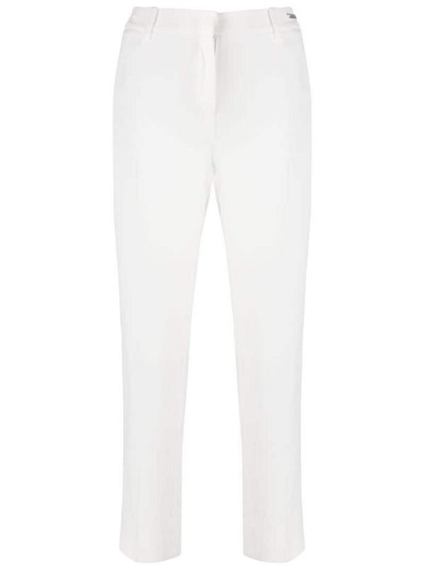 John Richmond mid-rise logo trousers in white