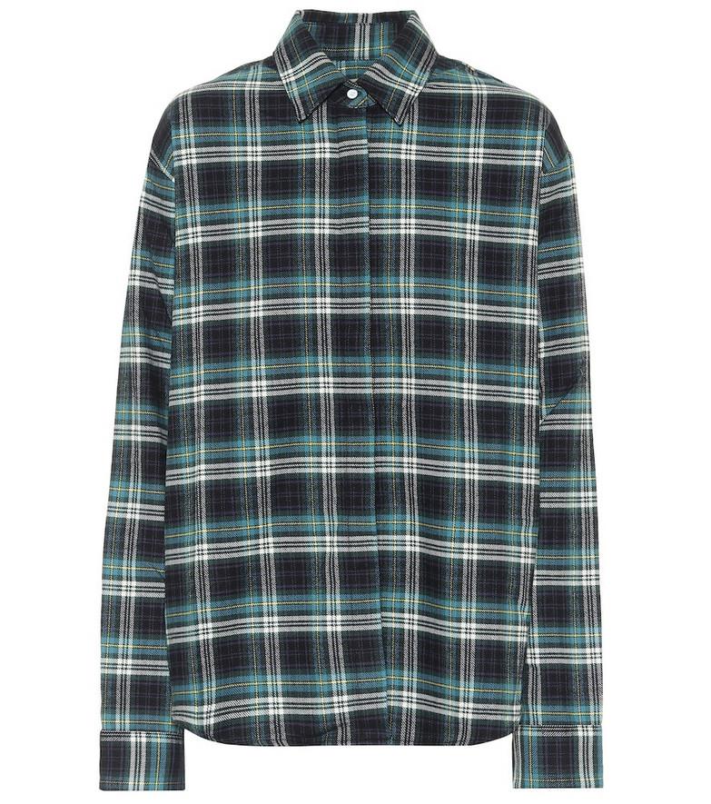 RtA Brady checked cotton shirt in black