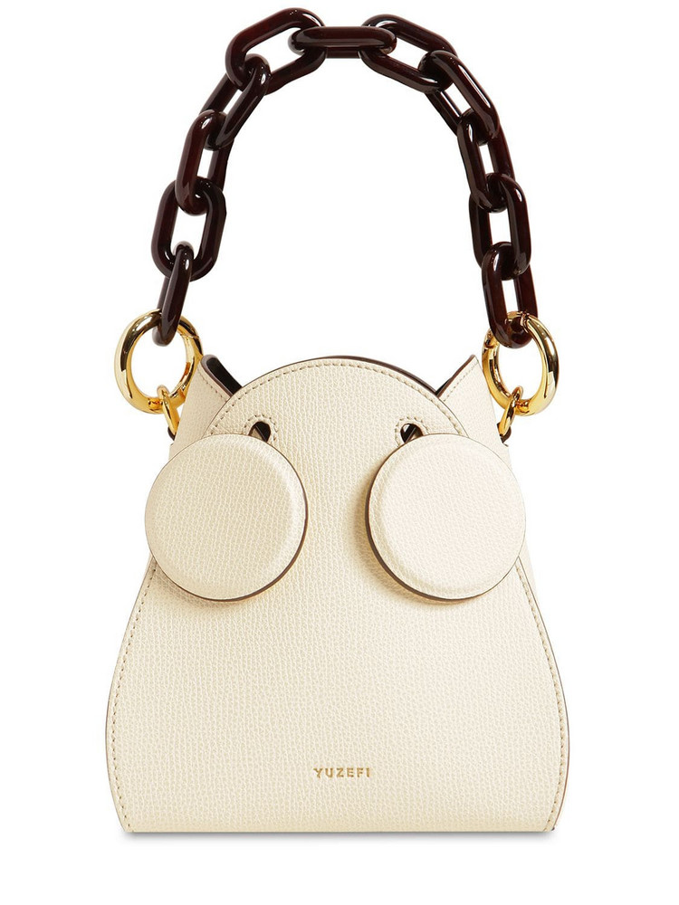 YUZEFI Pepper Leather Bucket Bag