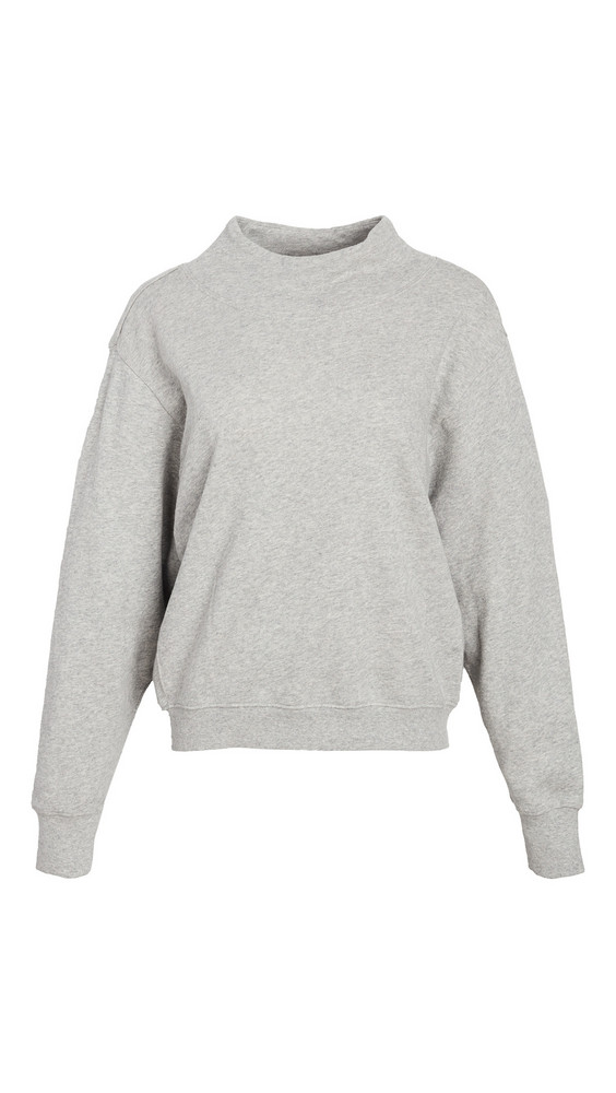 Z Supply Funnel Neck Sweatshirt in grey