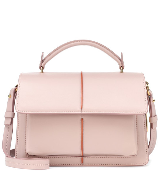 Marni Attache Small leather tote in pink