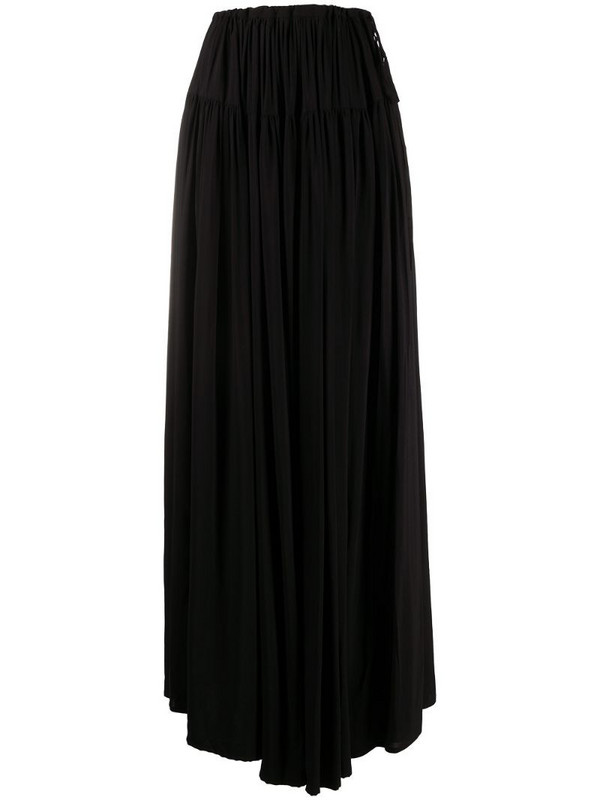 Ann Demeulemeester full gathered detail skirt in black