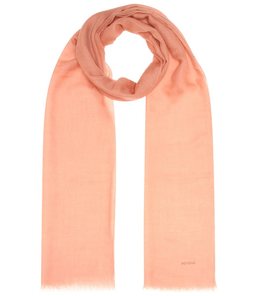 Agnona Cashmere scarf in pink