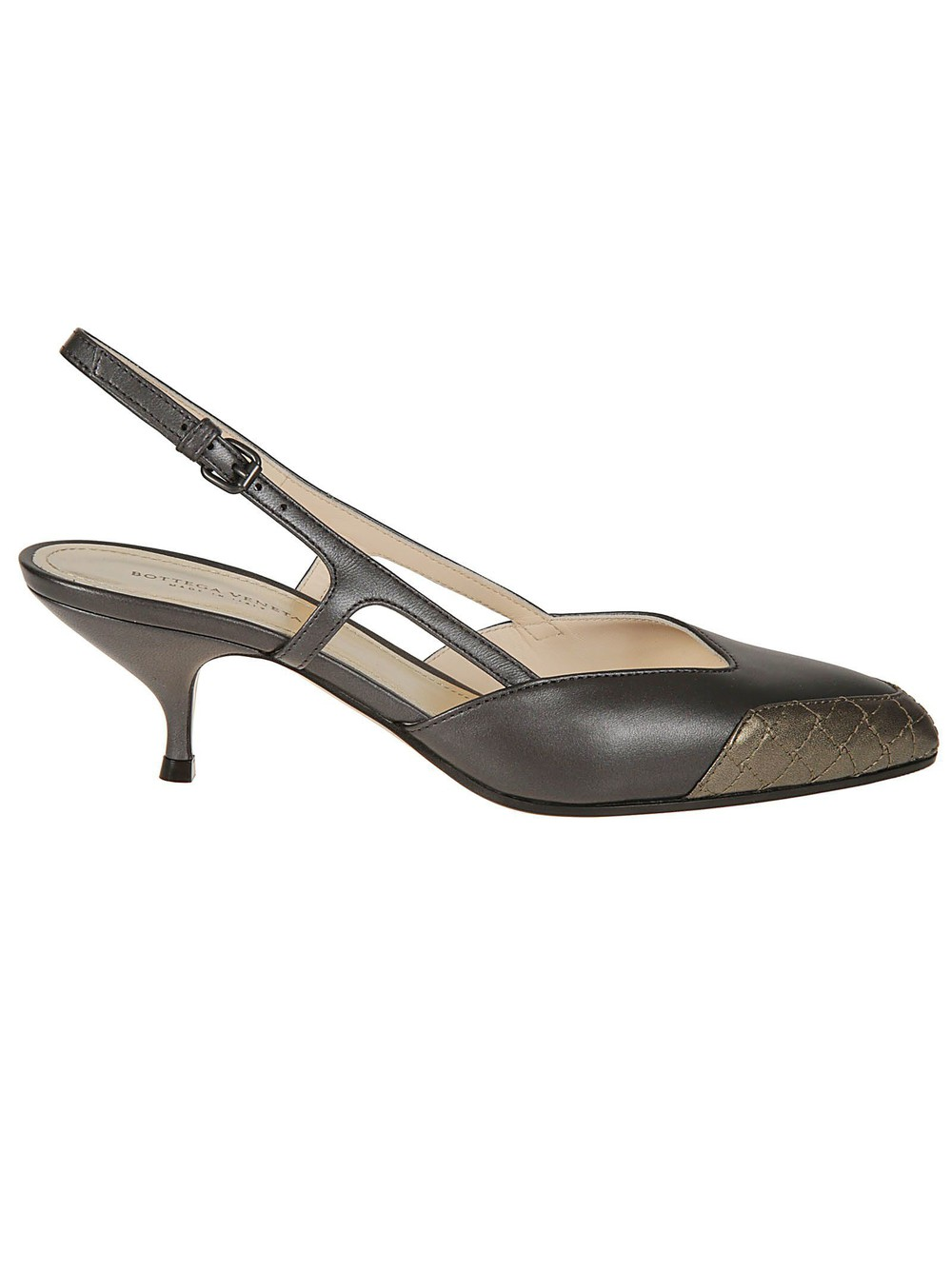 Bottega Veneta Asymmetric Sandals in silver