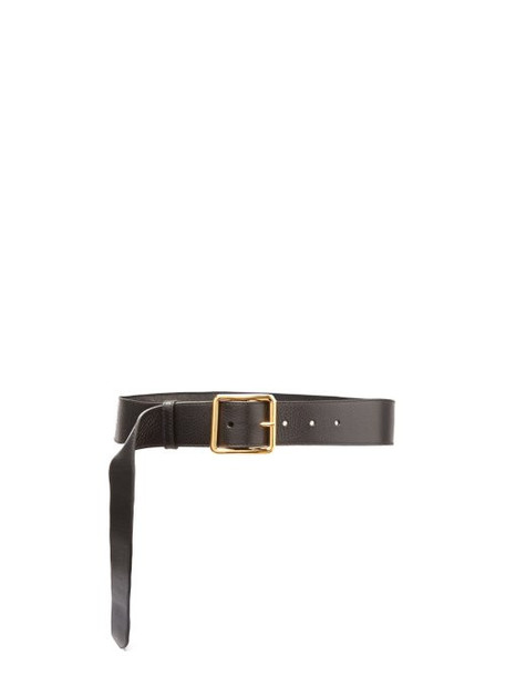 Alexander Mcqueen - Buckle Leather Belt - Womens - Black