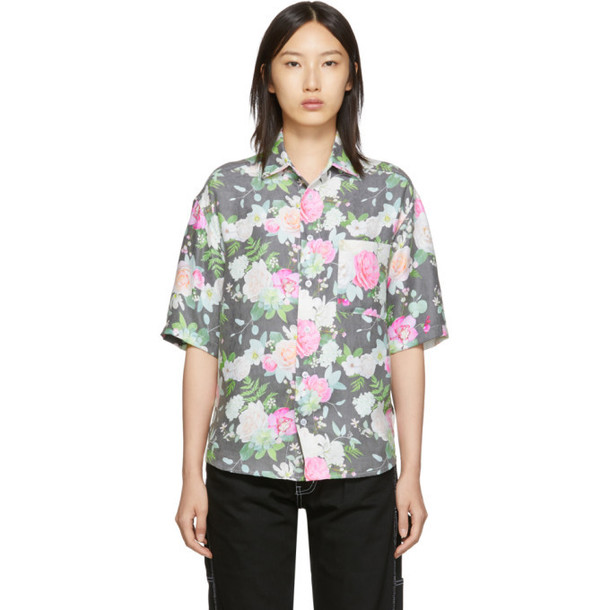 Noon Goons SSENSE Exclusive Black and Multicolor Prom Shirt
