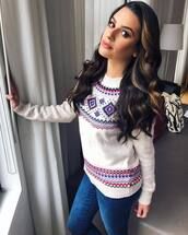 sweater,jeans,denim,instagram,celebrity,lea michele