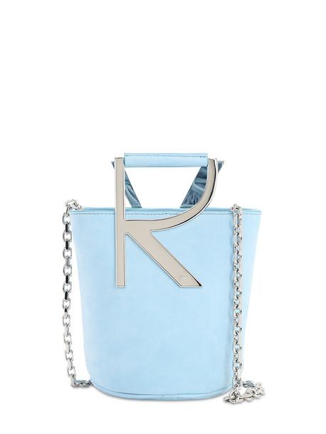 ROGER VIVIER Rv Suede Bucket Bag in blue