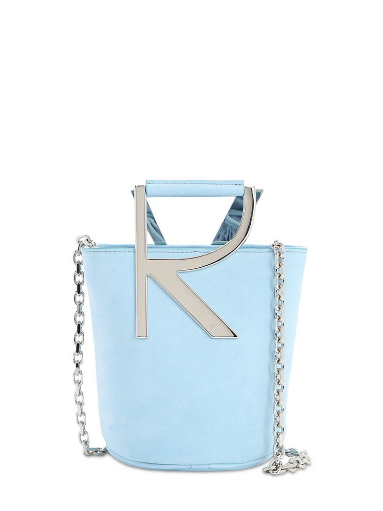 ROGER VIVIER Rv Suede Bucket Bag in blue