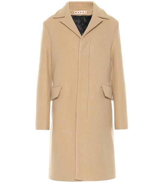 Marni Virgin wool coat in beige