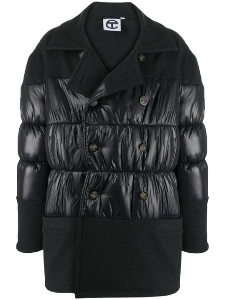 Telfar panelled padded coat in grey