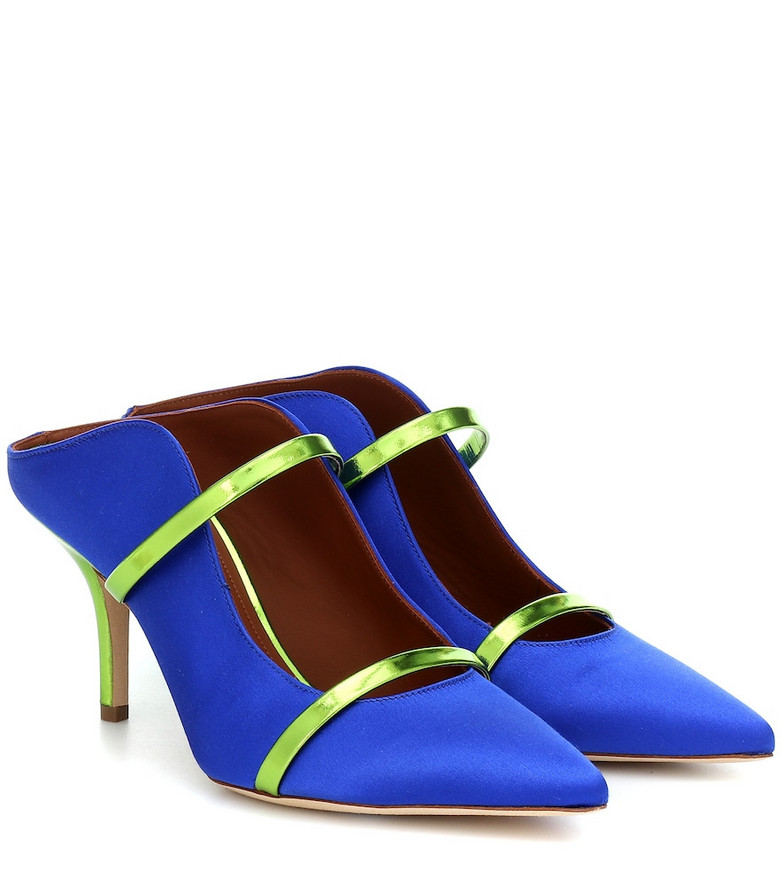 Malone Souliers Maureen 70 satin mules in blue