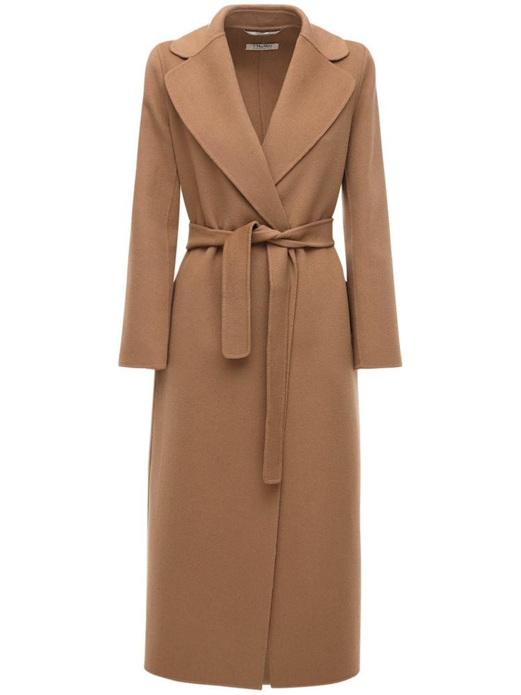 MAX MARA 'S Poldo Belted Wool Coat in camel