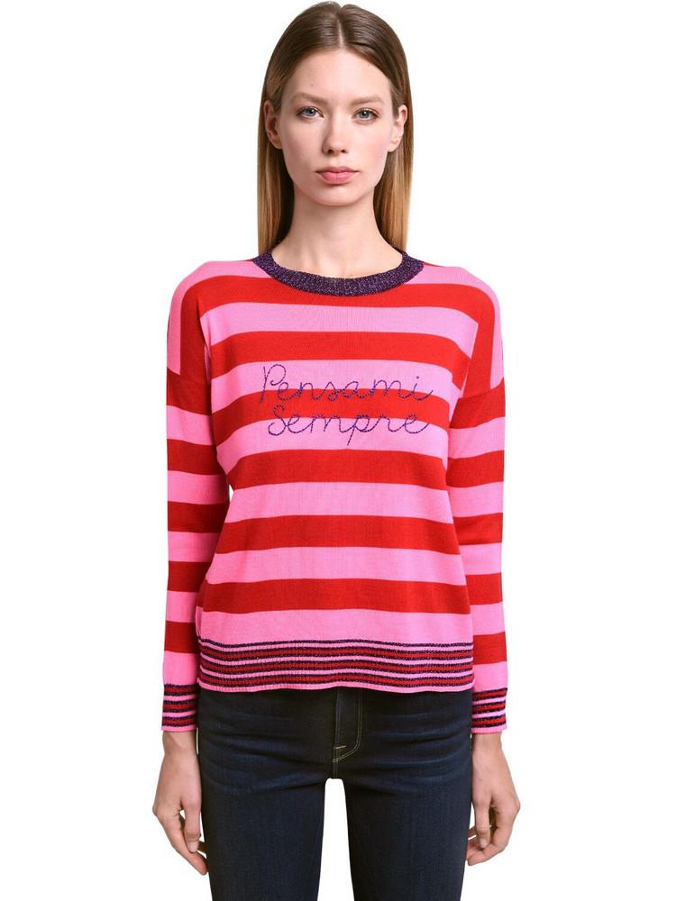 GIADA BENINCASA Pensami Sempre Wool Blend Sweater in pink / red