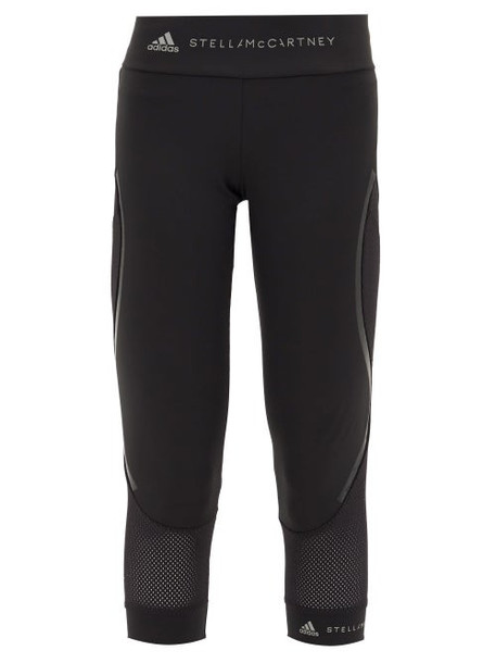Adidas By Stella Mccartney - Performance Essentials High-rise Cropped Leggings - Womens - Black