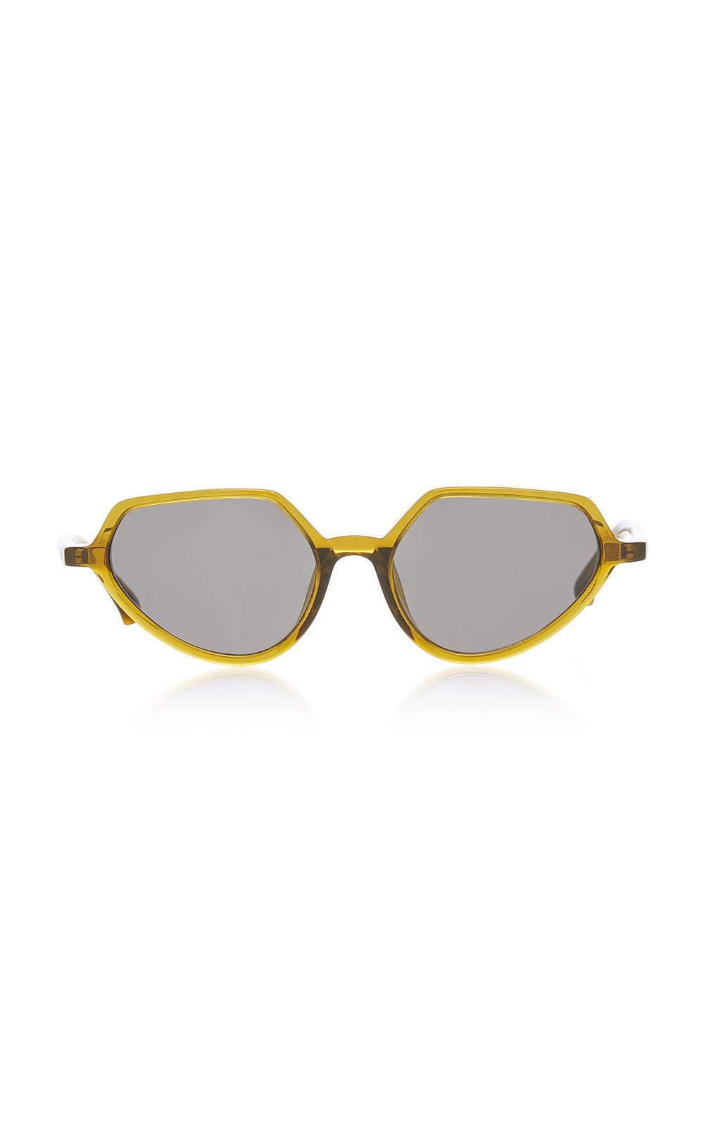 Dries Van Noten Round Acetate Sunglasses in yellow