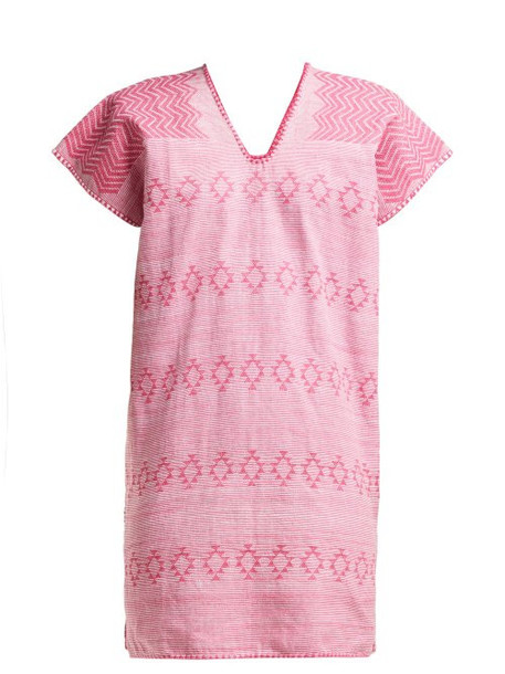 Pippa Holt - No.111 Embroidered Cotton Kaftan - Womens - Pink