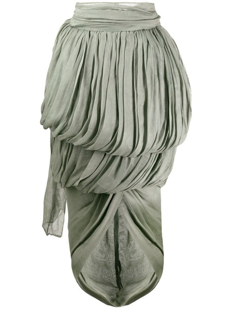 Romeo Gigli Pre-Owned 1990's draped midi skirt in green