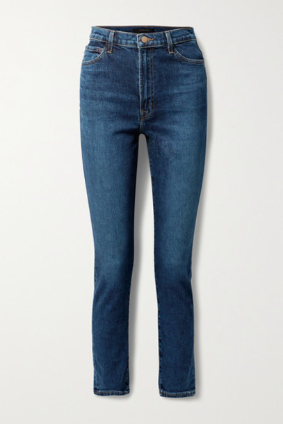 J Brand - 1212 Runway High-rise Slim-leg Jeans - Dark denim