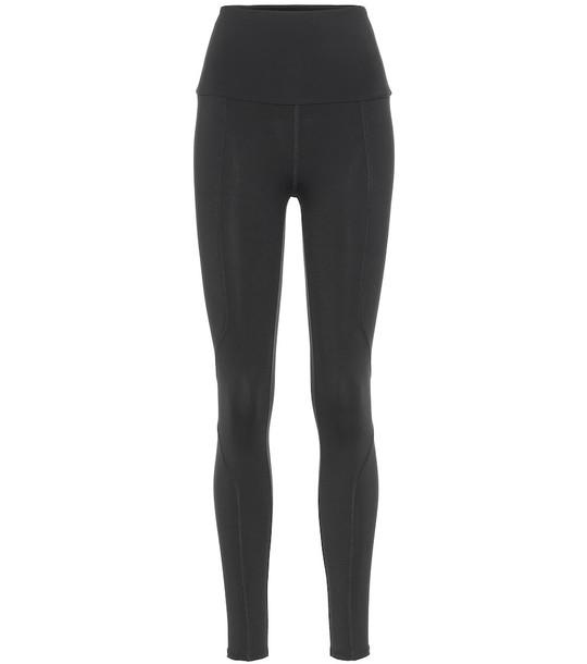 Live The Process Geometric leggings in black