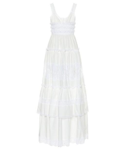 Dolce & Gabbana Cotton poplin maxi dress in white
