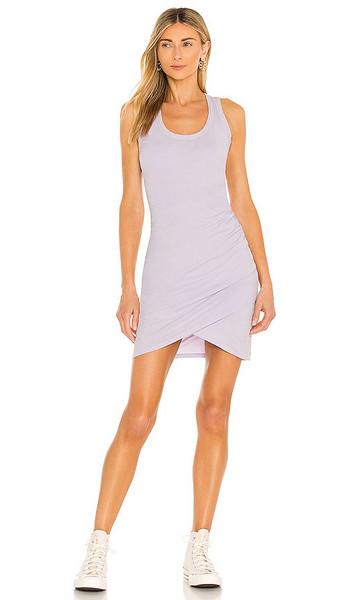 Bobi Supreme Jersey Dress in Lavender in lilac