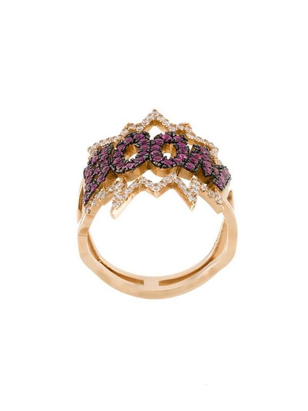 Diane Kordas BOOM! diamond ring in metallic