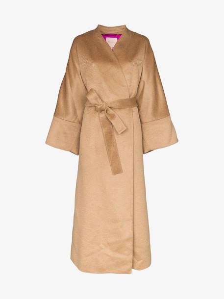 Roksanda Larisa oversized wrap coat in neutrals