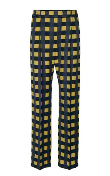 Stine Goya Jelena Checked Crepe Tapered Pants Size: XS in multi
