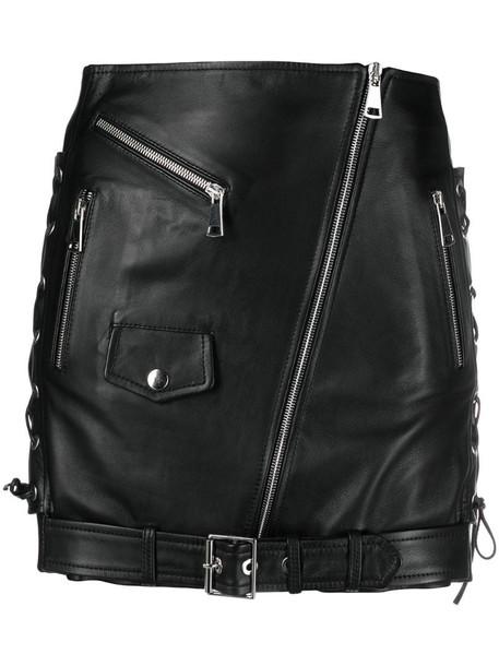 Manokhi Biker mini skirt in black
