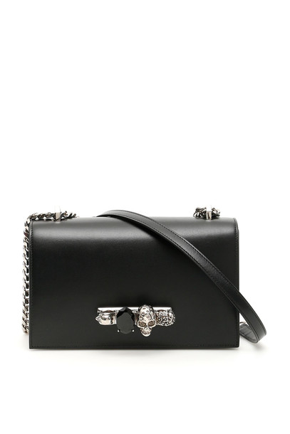 Alexander McQueen Jewelled Satchel in black