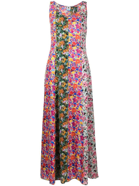 M Missoni floral print panelled dress in pink