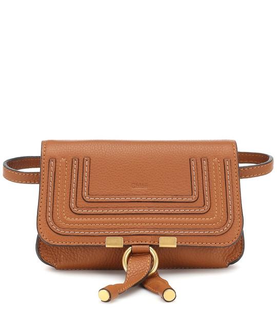 Chloé Marcie leather belt bag in brown