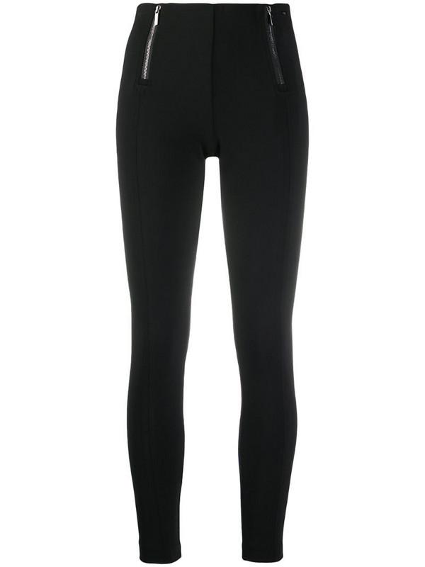 Armani Exchange zip-detail leggings in black