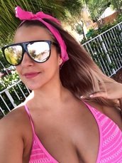sunglasses,rose gold,summer,swimwear