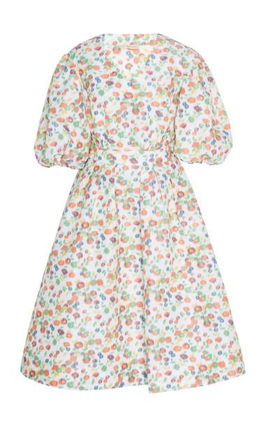 Tory Burch Taffeta Puffed Sleeve Mini Dress Size: 00 in print