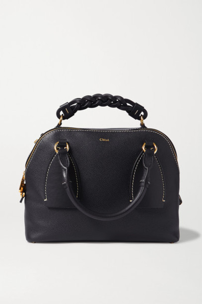 Chloé Chloé - Daria Medium Textured And Smooth Leather Tote - Navy