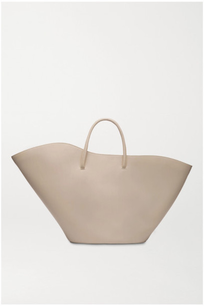 Little Liffner - Open Tulip Large Leather Tote - Beige