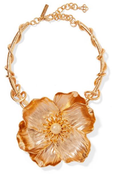 Oscar de la Renta - Poppy Gold-plated Necklace