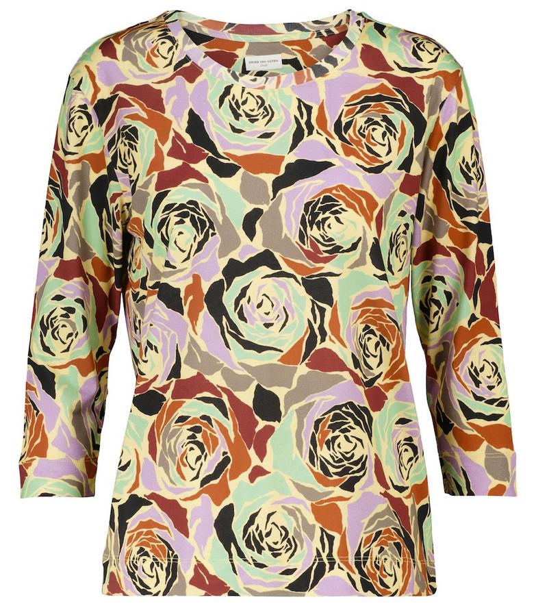 Dries Van Noten Floral cotton jersey T-shirt