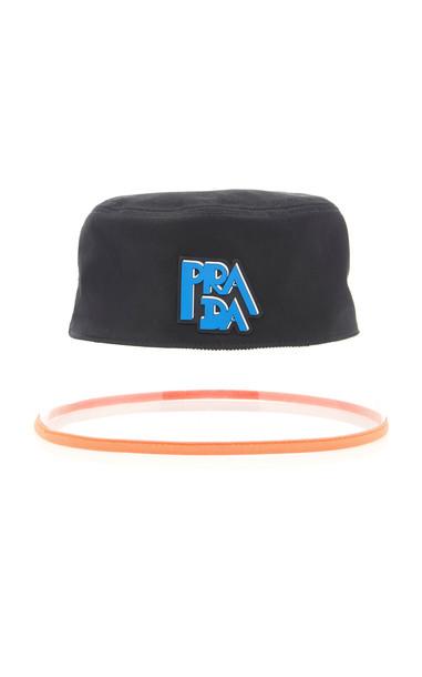 Prada Popeline Bucket Hat in black