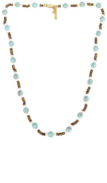 Lele Sadoughi Taos Strand Necklace in Teal in turquoise